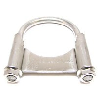 1967-74 Camaro Chevelle Nova Exhaust Clamp OE Guillotine Style 2-1/4 Stainless