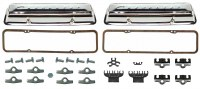 1967 Camaro Valve Cover Kit With Chrome Chevolet Script Valve Covers SS 350-295 HP
