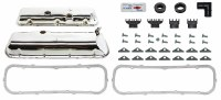 1967 Camaro BB Chrome Valve Cover Kit w/Drippers 396-375