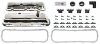 1968 Camaro BB Chrome Valve Cover Kit w/Drippers 396-375  Yenko USA