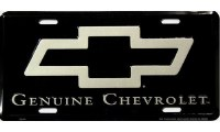 "1962-81 Camaro Chevelle Nova  License Plate ""Genuine Chevrolet"""