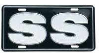 1967-81 Camaro Chevelle Nova  License Plate SS Black With White SS