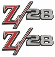 1969 Camaro Z/28 Fender Emblems Pair  OE Quality! GM# 3957935 USA!