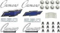 1969 Camaro Standard 250 Emblem Kit  OE Quality!