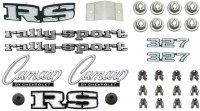 1969 Camaro Rally Sport 327 Emblem Kit  OE Quality!