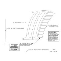1969 Camaro Quarter Panel Side Louver Templates
