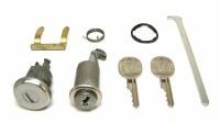 1967 Camaro & Firebird Glove Box Lock & Trunk Lock Kit w/GM Square Keys