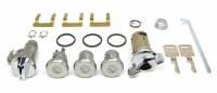 1969 Camaro Complete Lock Kit Ignition Doors Glove Box & Trunk Locks