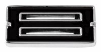 1967-81 Camaro Chevrolet Emblem Numeral 8 Black OE Quality! Self Adhesive Each