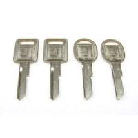 1969 Camaro & Firebird Key Blank Kit 4 Pieces  Assembly Line Correct