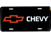 "1962-81 Camaro Chevelle Nova  License Plate ""Bowtie & Chevy"""