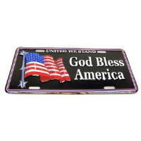 "1962-81 Camaro Chevelle Nova  License Plate ""God Bless America"""