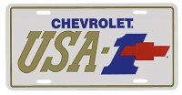 "1967-81 Camaro Chevelle Nova  License Plate USA-1 ""Bowtie USA-1"""