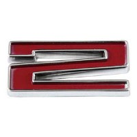 1967-81 Camaro Chevrolet Emblem Numeral 2 Red OE Quality! Self Adhesive Each