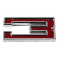 1967-81 Camaro Chevrolet Emblem Numeral 3 Red OE Quality! Self Adhesive Each