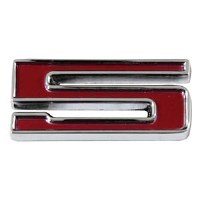 1967-81 Camaro Chevrolet Emblem Numeral 5 Red OE Quality! Self Adhesive Each
