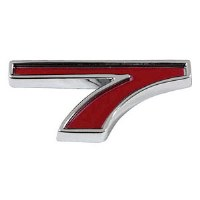 1967-81 Camaro Chevrolet Emblem Numeral 7 Red OE Quality! Self Adhesive Each