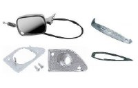1968 Camaro & Firebird Remote Control Door Mirror Kit With Deluxe Interior