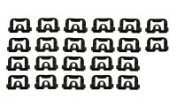 70 71 72 73 74 Camaro & Firebird Rear Window Molding Clip Set
