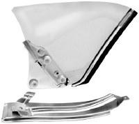67 68 69 Camaro & Firebird Coupe Clear Quarter Window & Quarter Track Kit  LH