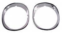 1970 1971 1972 1973 Camaro Headlamp Bezels Standard  Pair  GM# 3962943 & 3962944