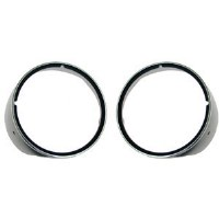 1969 Camaro Headlamp Bezels With Chrome Rings Pair GM# 3962901 & 3962902