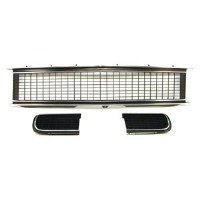 1967 Camaro Rally Sport Assembled Grille Kit w/Pre-riveted Moldings & Bezels