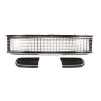 1968 Camaro Rally Sport Assembled Grille Kit w/Pre-riveted Moldings & Bezels