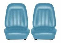 1967 Camaro Standard Interior Bucket Seat Covers  Light Blue