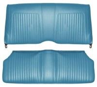 1967 Camaro Convertible Standard Interior Rear Seat Covers  Light Blue