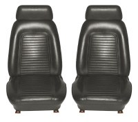 1969 Camaro Standard Interior Bucket Seat Covers  Black