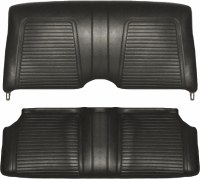 1969 Camaro Convertible Standard Interior Rear Seat Covers  Black