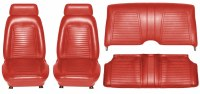 1969 Camaro Coupe Standard Interior Seat Cover Kit  OE Quality!  Red