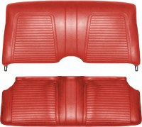 1969 Camaro Coupe Standard Interior Fold Down Rear Seat Covers  Red