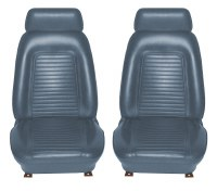 1969 Camaro Standard Interior Bucket Seat Covers  Dark Blue