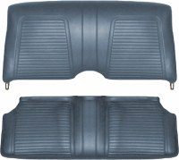 1969 Camaro Convertible Standard Interior Rear Seat Covers  Dark Blue