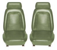 1969 Camaro Standard Interior Bucket Seat Covers  Dark Green