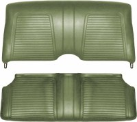 1969 Camaro Standard Interior Fold Down Rear Seat Covers  Dark Green