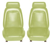 1969 Camaro Standard Interior Bucket Seat Covers  Moss Green