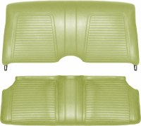 1969 Camaro Convertible Standard Interior Rear Seat Covers  Moss Green