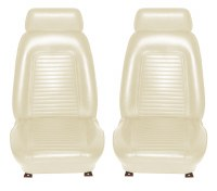 1969 Camaro Standard Interior Bucket Seat Covers White