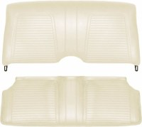 1969 Camaro Coupe Standard Interior Fold Down Rear Seat Covers  White