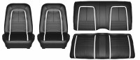 1967 Camaro Deluxe Interior Seat Cover Kit  OE Quality!  Front Bucket & Rear Seat Cover Upholstery  Black