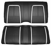 1967 Camaro Coupe Deluxe Interior Rear Seat Covers  Black