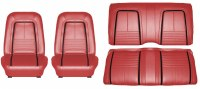 1967 Camaro Deluxe Interior Seat Cover Kit  OE Quality!  Front Bucket & Rear Seat Cover Upholstery  Red