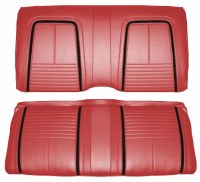 1967 Camaro Coupe Deluxe Interior Rear Seat Covers  Red