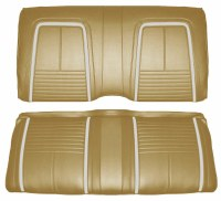 1967 Camaro Coupe Deluxe Interior Rear Seat Covers  Gold