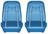 1967 Camaro Deluxe Interior Bucket Seat Cover Upholstery  Bright Blue  Fits: 1967 Camaro Indy Pace Car