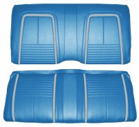 1967 Camaro Coupe Deluxe Interior Rear Seat Covers  Bright Blue