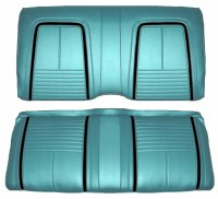 1967 Camaro Coupe Deluxe Interior Rear Seat Covers  Turquoise